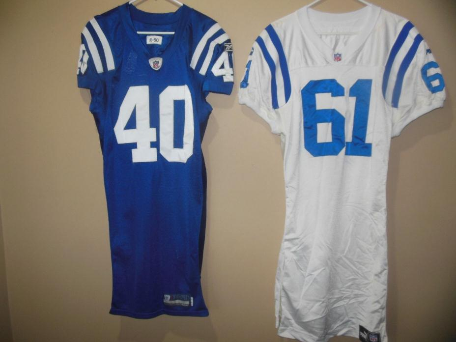 INDIANAPOLIS COLTS  GAME USED  NFL FOOTBALL JERSEY