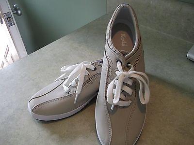 Keds light tan tennis womens ladies athletic  sz.9 ~sneakers shoes~COMFORT+CUTE!