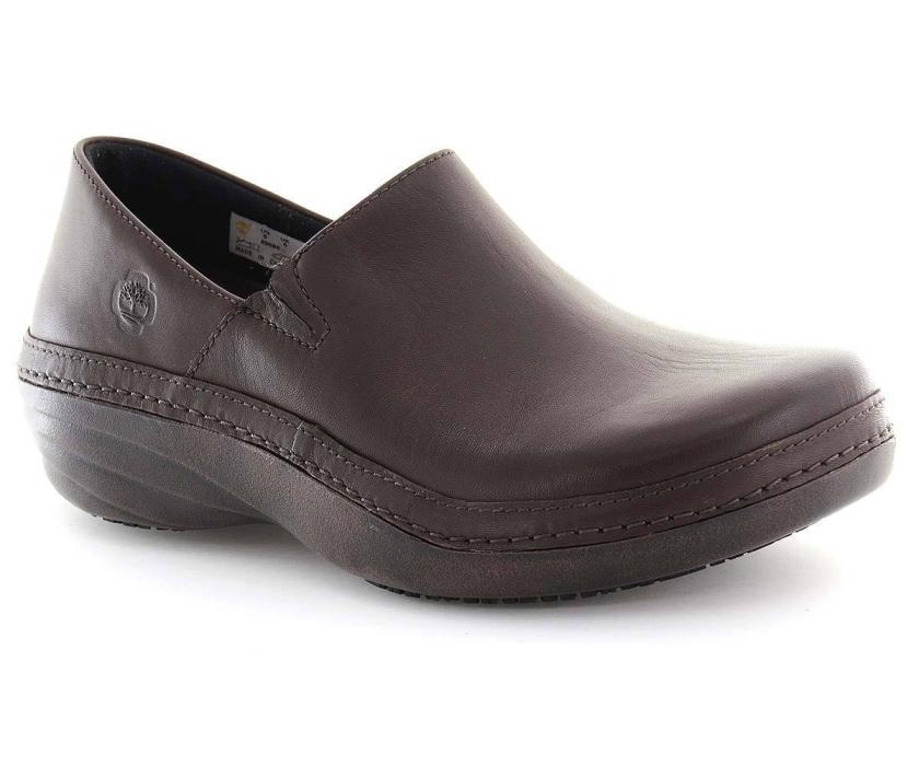 Timberland PRO Women's Slip On 89688 Non Slip Renova Professional Brown Shoe 8.5