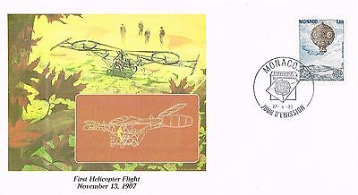 1983 Monaco - Man's Conquest of the Heavens - 1'st Helicopter Flight 1907 FDC