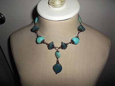Faux Turquoise & Blue Necklace