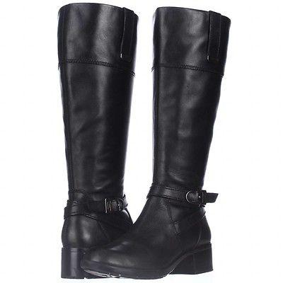 Bandolino Baya Wide Calf Riding Boots, Black, 7 M US, DISPLAY