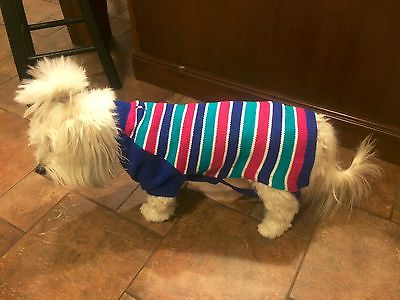New Dress Barn Multicolor Dog Sweater S Small