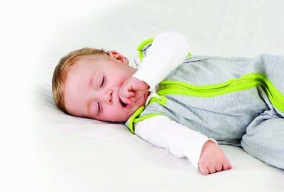 Baby Deedee Sleep Nest Lite Baby Sleeping Bag, Heather Gray Lime, Large (18-36 M
