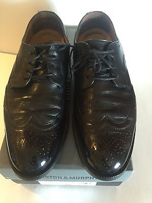 JOHNSTON & MURPHY WING TIP MENS DRESS SHOES signature series Size 9m US