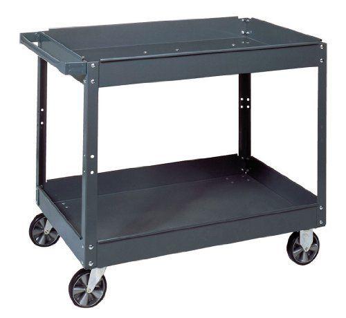 Steel Tool Work Cart Gray Home Garage Shed Film Equipment Cart Shelves Storage