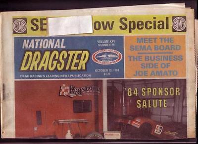 NATIONAL DRAGSTER-NHRA-10/19/84-AMATO-KERHULAS-GROSE VG