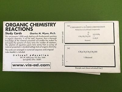 Organic Chemistry Reactions Study Cards Visual Education 1000 cards
