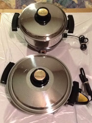 Kitchen Craft West Bend Waterless 4 Qt Slo Slow Cooker And Electric Skillet