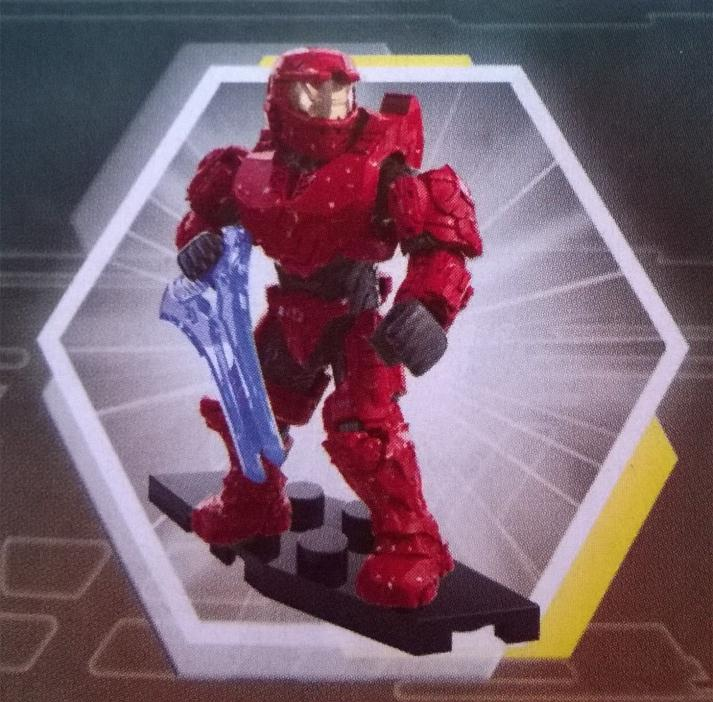 SEALED NEW RARE - Halo Mega Bloks Foxtrot Series UNSC Red Armor MK IV Spartan