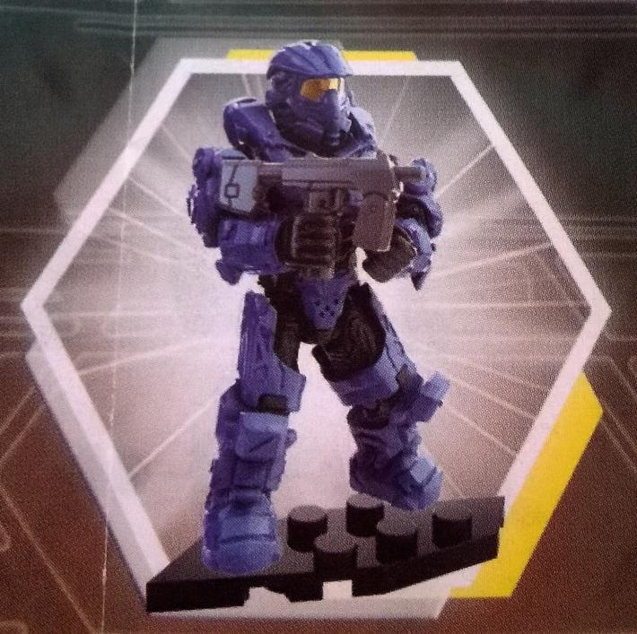 SEALED NEW RARE - Halo Mega Bloks Foxtrot Series UNSC Blue Armor Spartan Aviator