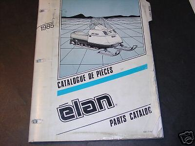 1985 SKI-DOO ELAN FACTORY SNOWMOBILE  MANUAL