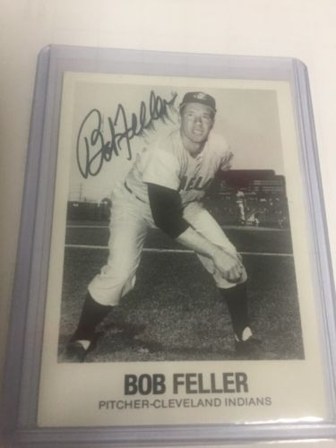 BOB FELLER autograph baseball card