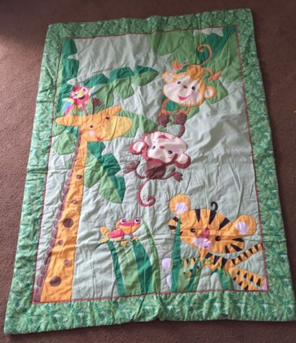 Jungle Theme 4 Piece Toddler Bedding Set