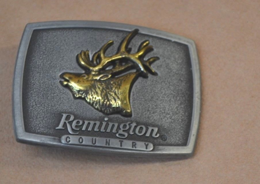 Remington Country (Bugling Elk) Belt Buckle 1986 l FREE SHIPPING