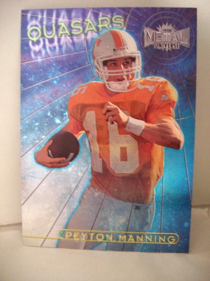 Peyton Manning 1998 Skybox Metal Quasars Rookie Card Colt's - Bronco's