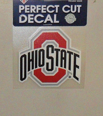 NCAA OHIO STATE BUCKEYES 4X4 DECAL FAST FREE SHIPPING