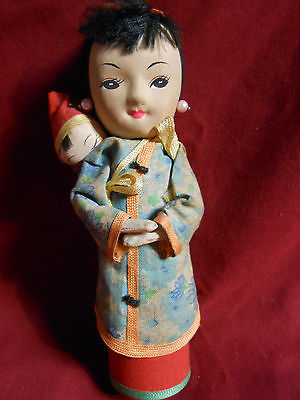 Vintage Japanese Cloth Doll With Baby