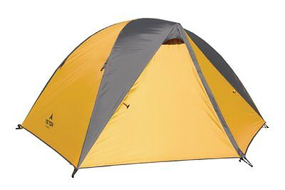2 Man Tent Orange/Grey Camping Backpacking Hiking Outdoor Recreation Light