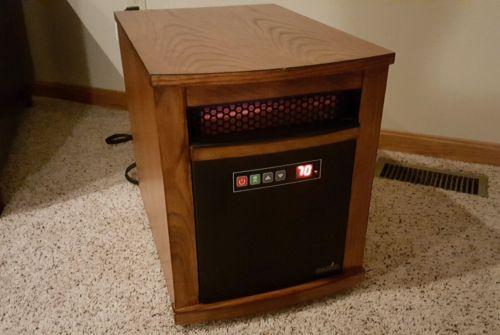Duraflame PowerHeat Infrared Quartz Heater 5200 BTU 1500W Oak 10Q1071ARA