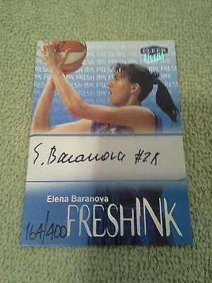 1999 Fleer Ultra Elena Baranova Fresh Ink On Card Autograph #d/400 Utah Starzz