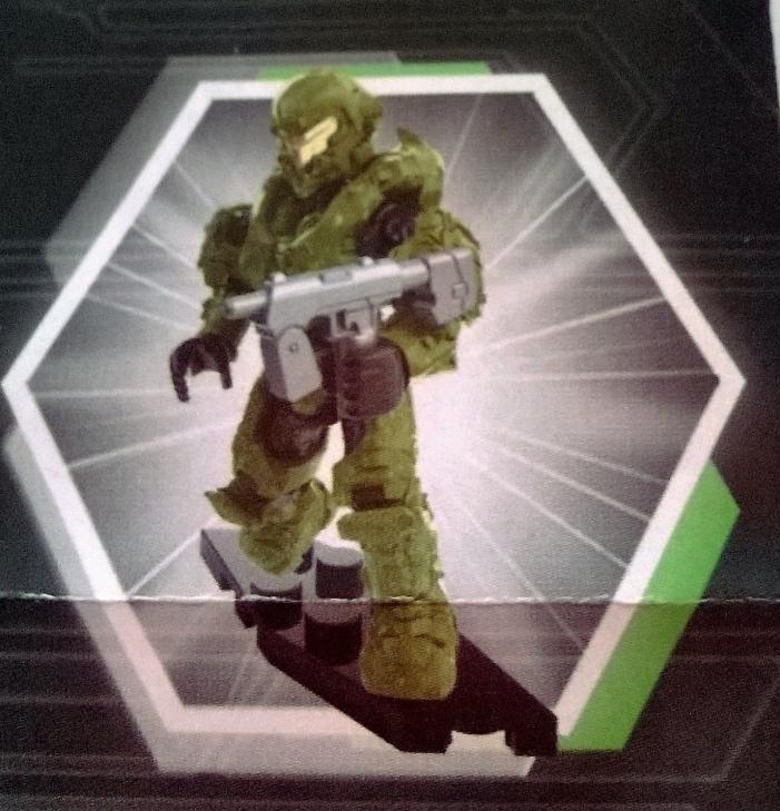 SEALED NEW RARE - Halo Mega Bloks Foxtrot UNSC Green Armor Spartan Copperhead