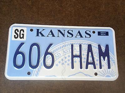 Kansas License Plate - 606 HAM