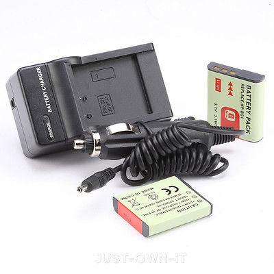NEW 2pcs Battery+Charger for Sony Cyber-shot DSC-W120 DSC-W120MDG/P DSC-W55