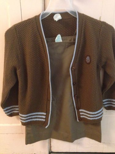 Vintage Brownie Girl Scout Sweater And Jumper
