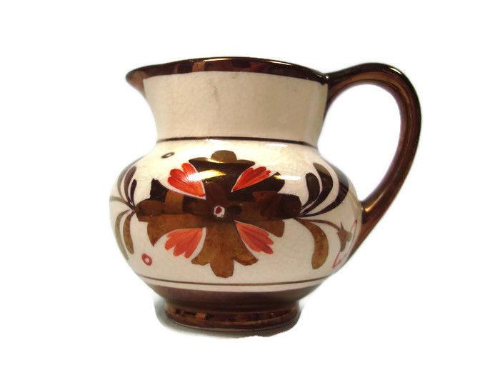 Gray's Pottery Copper Luster Mini Pitcher