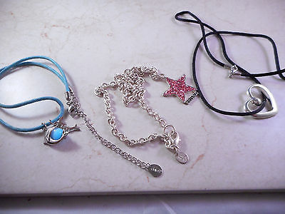 Woman's Necklaces Lot of 3 Claire's Signed