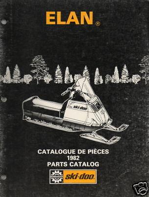 1982 SKI-DOO ELAN SNOWMOBILE PARTS MANUAL NICE