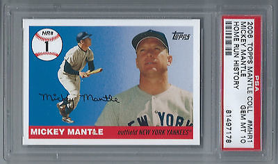 2006 Topps Mickey MantleCollection  Home Run History PSA GEM 10 #MHR1 YANKEES NY