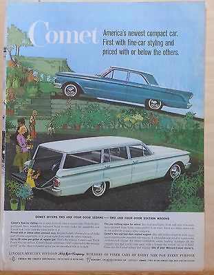 1960 magazine ad for Mercury - Comet station wagons and sedans
