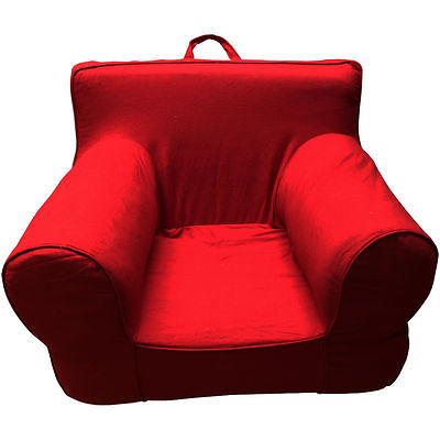 RED COVER FOR POTTERY BARN KIDS ANYWHERE CHAIR OVERSIZE NEW SLIPCOVER