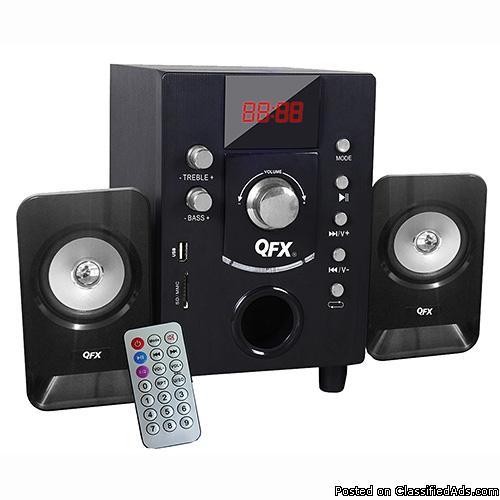 Cool QFX 2.1 Channel NFC Bluetooth NFC USB/SD/FM Shelf System