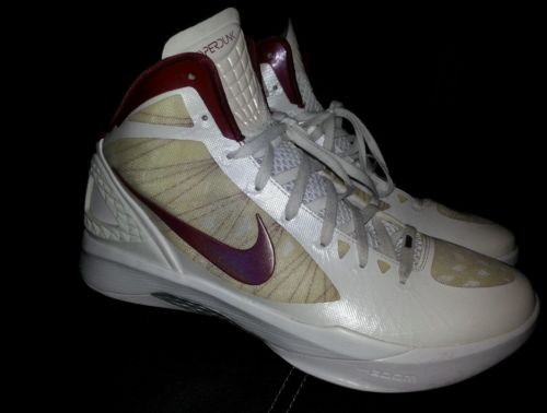 Nike Men's Zoom Hyperdunk Flywire 2011 Basketball Shoes Size 14  DS wine&cream