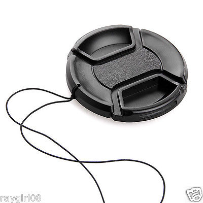 Universal Fits All 72mm Snap on Center Pinch lens Cap Dust Cover Protector New