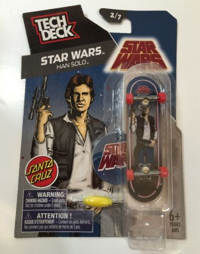 NEW! RARE! Tech Deck Santa Cruz Star Wars Han Solo 2/7 Mini Skateboard
