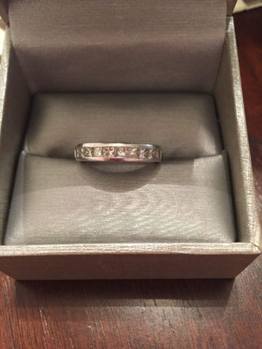 Platinum 10 Diamonds Wedding Ring