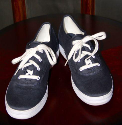 Blue Women's Keds Canvas Cushion Insole Sneakers Tennis Shoes Size 11 M