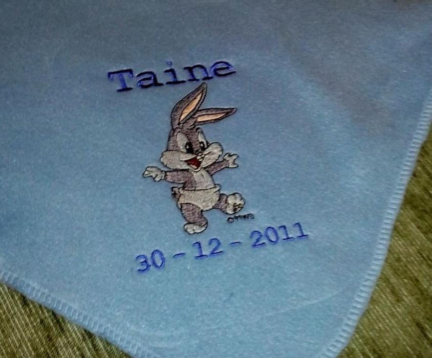 Personalized Embroidery Baby Fleece Baby Bugs Blanket