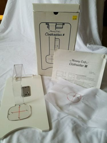JANOME MEMORY CRAFT CLOTHSETTER III EMBROIDERY DESIGN PLACEMENT TOOL, used