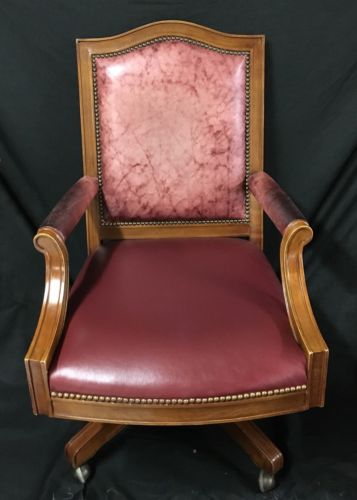 Beautiful Bob Timberlake Lexington Leather Office Desk Chair Red