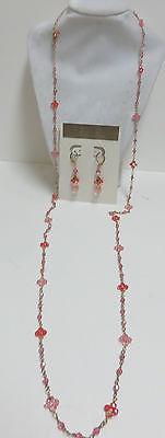 Lori Lori Nordstrom Swarovski Crystal Gold Filled Necklace/Earrings