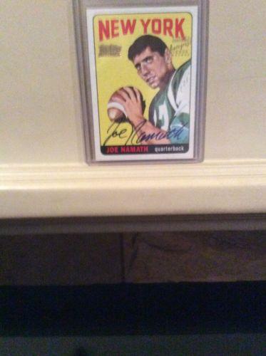 Joe Namath Topps autograph card
