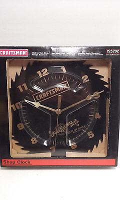 Craftsman Steel Saw Blade Shop Wall Clock