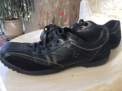 ALDO Black LEATHER FASHION SNEAKERS MENS CASUAL SHOES SIZE 43
