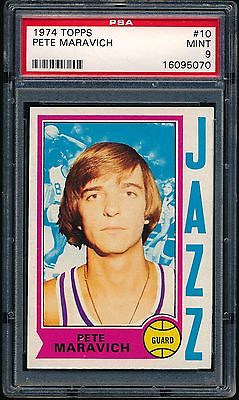 1974 Topps #10 Pete Maravich PSA 9. Centered!