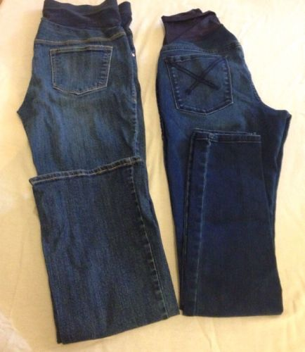 Two Pairs Size 6 Old Navy Maternity Jeans